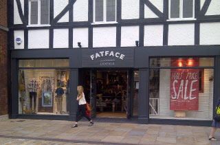 Fat Face Store Front